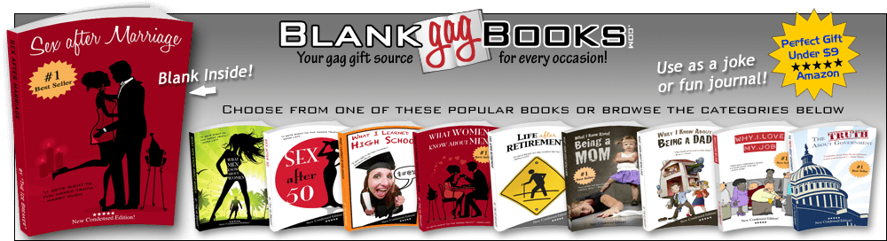 blank gag books gift ideas